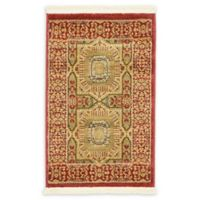 Unique Loom Lincoln Palace 2' X 3' Powerloomed Area Rug in Red