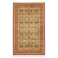 """Unique Loom Lincoln Palace 3'3"""" X 5'3"""" Powerloomed Area Rug in Red"""