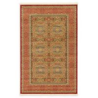 Unique Loom Lincoln Palace 5' X 8' Powerloomed Area Rug in Red