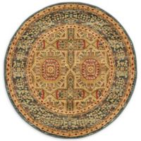 Unique Loom Lincoln Palace 3' Round Accent Rug in Blue