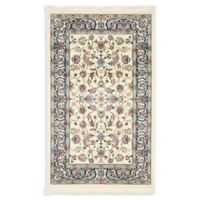 Unique Loom Leeds Nain Design 3' X 5' Powerloomed Area Rug in Ivory