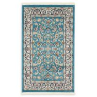 Unique Loom Leeds Nain Design 3' X 5' Powerloomed Area Rug in Blue