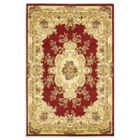 Unique Loom Leon Versailles 4' x 6' Area Rug in Red