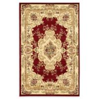 Unique Loom Leon Versailles 5' x 8' Area Rug in Red