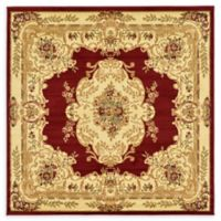 Unique Loom Leon Versailles 6' Square Area Rug in Red