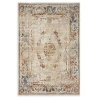 Unique Loom Lincoln Villa 4' X 6' Powerloomed Area Rug in Beige