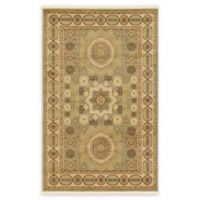 Unique Loom Madison Palace 5' X 8' Powerloomed Area Rug in Light Green