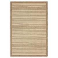 Unique Loom Lines 4' x 6' Indoor/Outdoor Area Rug in Beige