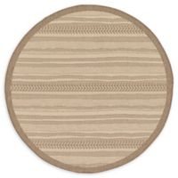 Unique Loom Lines 6' Round Indoor/Outdoor Area Rug in Beige
