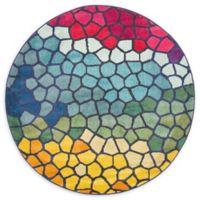Unique Loom Palace Barcelona 6' Round Multicolor Area Rug