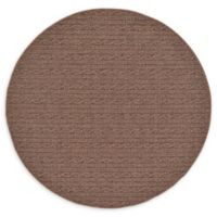 Unique Loom Links 6' Indoor/Outdoor Round Area Rug in Brown