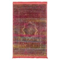 "Unique Loom La Rampa Havana 2'2"" X 3' Powerloomed Area Rug in Pink"
