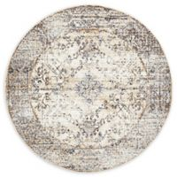 Unique Loom Lexington Naples 5' Round Powerloomed Area Rug in Cream