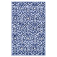 Unique Loom Lovely Damask 3'3 x 5'3 Area Rug in Blue