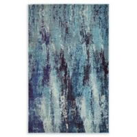 Unique Loom Lilly Barcelona 3'3 x 5'3 Area Rug in Blue
