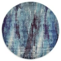 Unique Loom Lilly Barcelona 6' Round Area Rug in Blue