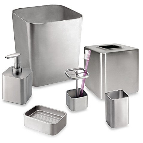 Gia Brushed Stainless Steel Boutique Tissue Holder