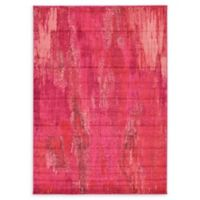 Unique Loom Lilly Barcelona 7' X 10' Powerloomed Area Rug in Pink