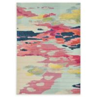 Unique Loom Laurnell Barcelona 7' X 10' Powerloomed Area Rug in Pink