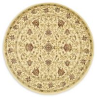 Unique Loom Lawrence Agra 6' Round Powerloomed Area Rug in Cream