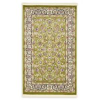 Unique Loom Leeds Nain Design 3' X 5' Powerloomed Area Rug in Green