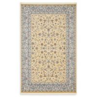 Unique Loom Leeds Nain Design 5' X 8' Powerloomed Area Rug in Beige