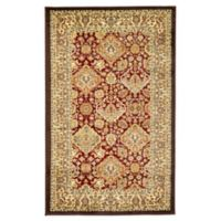 Unique Loom Colonial Agra 3' X 5' Powerloomed Area Rug in Red/cream