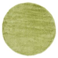 Unique Loom Mulholland Solo 6' Round Power-Loomed Area Rug in Green