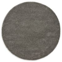 Unique Loom Calabasas Solo 6' Round Power-Loomed Area Rug in Grey