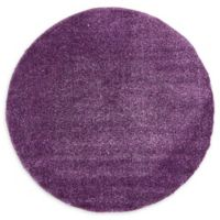 Unique Loom Calabasas Solo 6' Round Power-Loomed Area Rug in Violet