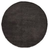 Unique Loom Calabasas Solo 6' Round Power-Loomed Area Rug in Charcoal