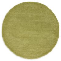 Unique Loom Calabasas Solo 6' Round Power-Loomed Area Rug in Light Green