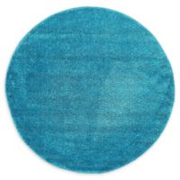 Unique Loom Calabasas Solo 6' Round Power-Loomed Area Rug in Turquoise