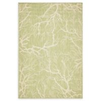 Unique Loom Branch 4' x 6' Power-Loomed Indoor/Outdoor Area Rug in Light Green