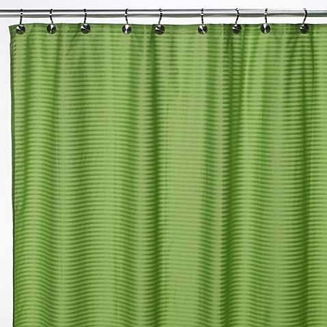 Aqua Tec Fabric Shower Curtain Liner In Lime