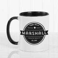 Coffee House 11 oz. Coffee Mug in Black