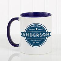 Coffee House 11 oz. Coffee Mug in Blue