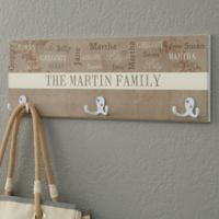 Our Loving Family 3-Hook Coat Rack