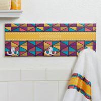 Geometric 3-Position Towel Hook