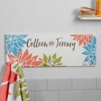 Mod Floral 3-Position Towel Hook