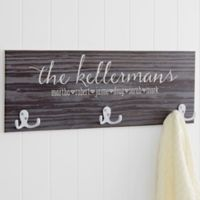 Family Love Rustic 3-Hook Coat Rack