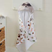 Woodland Adventure Raccoon Hooded Towel