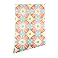 Deny Designs Heather Dutton Crazy Daisy Sorbet 2-Foot x 8-Foot Peel and Stick Wallpaper
