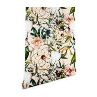 Deny Designs Marta Barragan Camarasa Floral Skull 2-Foot x 10-Foot Wallpaper in Beige