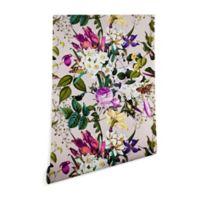 Deny Designs Marta Barragan Camarasa Bouquet Bird 2-Foot x 8-Foot Peel and Stick Wallpaper