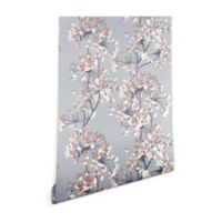 Deny Designs Emanuela Carratoni Delicate Flower 2-Foot x 8-Foot Peel and Stick Wallpaper