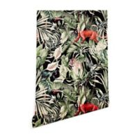 Deny Designs Marta Barragan Camarasa Dark of Jungle 2-Foot x 8-Foot Peel and Stick Wallpaper