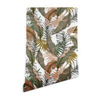 Deny Designs Marta Barragan Camarasa Tropical Jungle 2-Foot x 4-Foot Peel and Stick Wallpaper