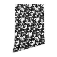 Deny Designs Sharon Turner Just Penguins 2-Foot x 8-Foot Peel and Stick Wallpaper in Black