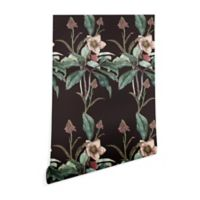 Deny Designs Cayena Blanca Dramatic Garden 2-Foot x 8-Foot Peel and Stick Wallpaper in Black
